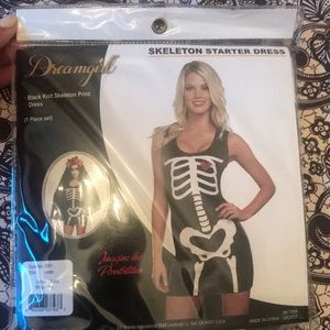 🎃NWT Dreamgirl Skeleton Dress